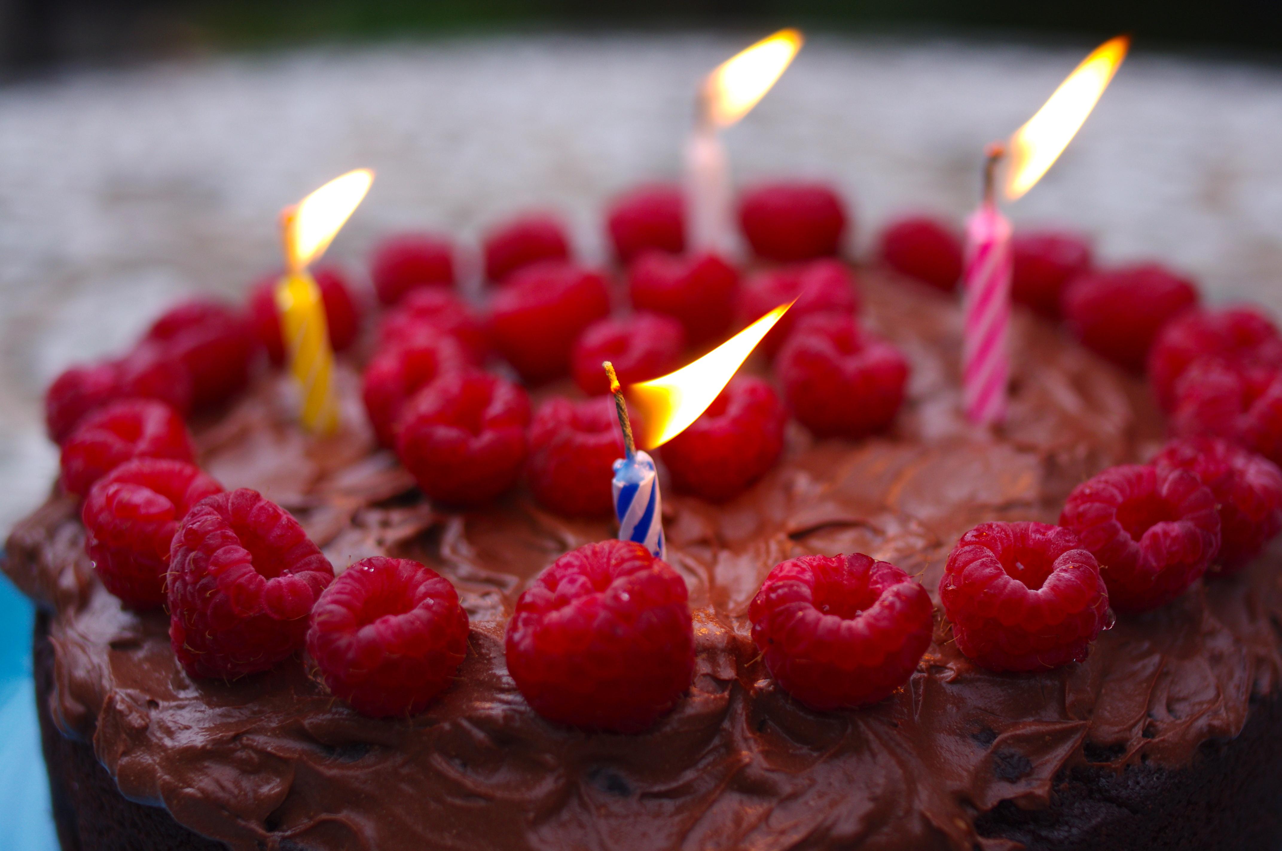 Remarkable Chocolate Ricotta And Raspberry Cake Surreykitchen Personalised Birthday Cards Arneslily Jamesorg