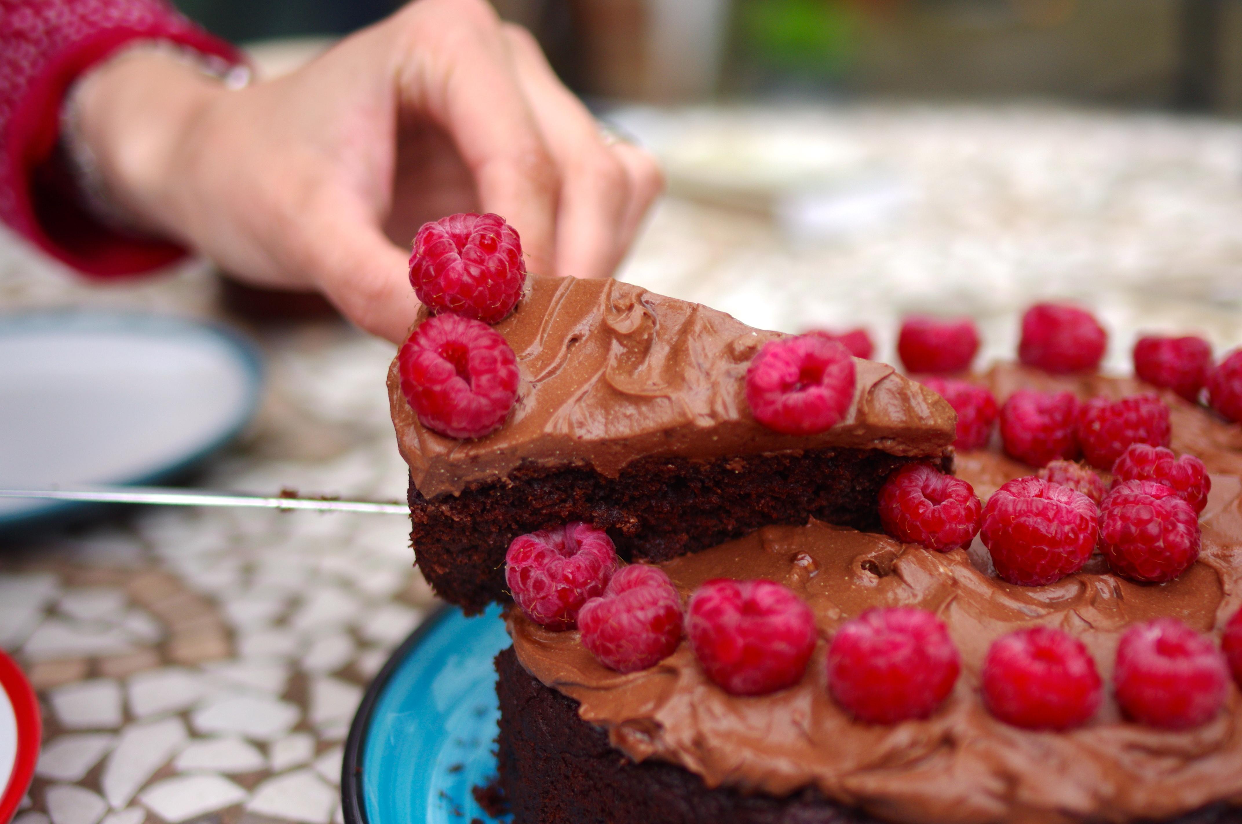 Chocolate Ricotta and Raspberry Cake SurreyKitchen